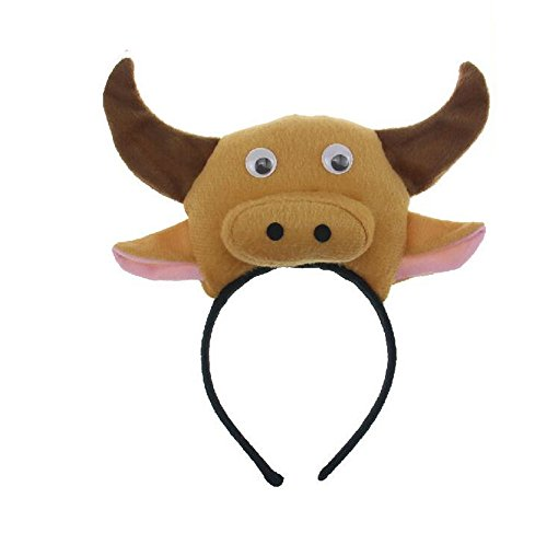 [Skue Cute Three-dimensional Calf Headband headwear for Christmas Cosplay Party] (Little Red Ant Costume)
