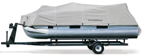 Classic Accessories Hurricane Pontoon Boat Cover (Grey, 25&#39;-28&#39;L)