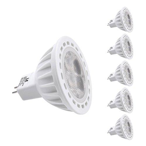 Le 4W Gu5.3 Mr16 Led Bulb, Equal To 50W Halogen Bulb, 12 Vac/Dc, Cutting Edge Design, 310Lm, Warm White, Pack Of 5 Units