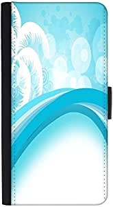 Snoogg Abstract Summer Background Graphic Snap On Hard Back Leather + Pc Flip...