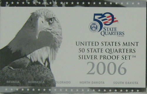 2006 Silver Proof State Quarter Set in Original Government Packaging