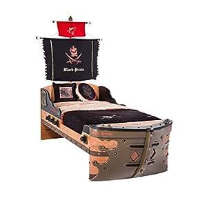 piratenbett cilek black pirate schiff bett kinderbett jugendzimmerbett kinderm bel. Black Bedroom Furniture Sets. Home Design Ideas