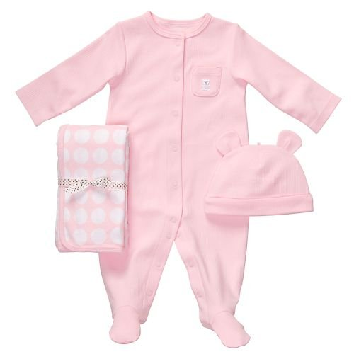 Carter'S 3 Piece Layette Set - Dots-Pink-6 Months