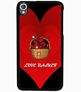 ColourCraft Love Basket Design Back Case Cover for HTC DESIRE 820