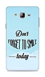Amez Dont forget to Smile Today Back Cover For Samsung Galaxy ON7