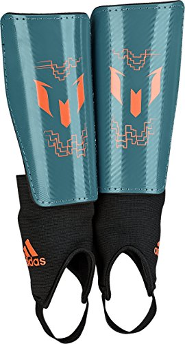 adidas Performance Messi 10 Youth Shin Guard, Power Teal/Solar Orange, Medium (Shin Guards For Kids compare prices)