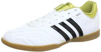 adidas Performance 11Questra IN Q23913 Herren Fußballschuhe Weiß (Running White Ftw / Black 1 / Metallic Gold) 40