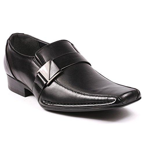 Alberto-Fellini-Mens-Buckle-Strap-Slip-On-Loafers-Dress-Classic-Shoes