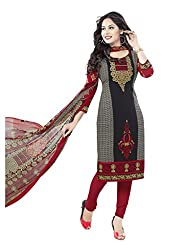 Salwar House Multicolor Unstitched Synthetic Printed Dress Material with Dupatta