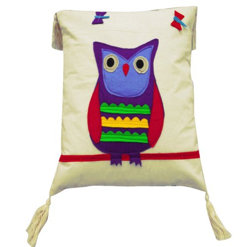 Home Décor Cotton Pillow Case Patchwork Throw Indian Art Gift Fringed Owl Print Decorative Cushion Cover 16