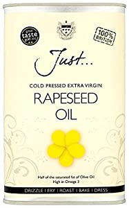 Just Rapeseed Oil Cold Pressed Extra Virgin 1 Litre