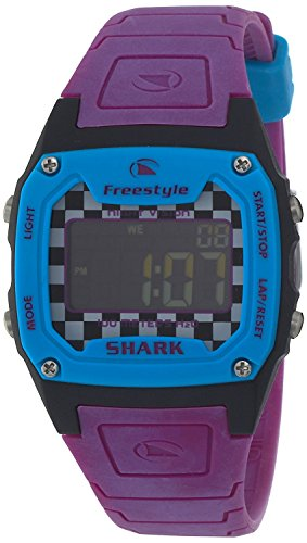 Freestyle Sport Watch SHARK CLASSIC digital display stop 10 water pressure Purple ~ Blue FS81295 Men with watch timer function [regular imported goods] (Purple Shark Freestyle Watch compare prices)