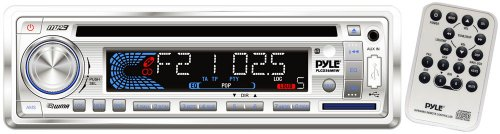 Pyle PLCD36MRW AM/FM-MPX IN-Dash Marine CD/MP3 Player/Weatherband/USB & SD Card Function