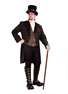 Steampunk Gentleman's Empire Opera Coat - Medium