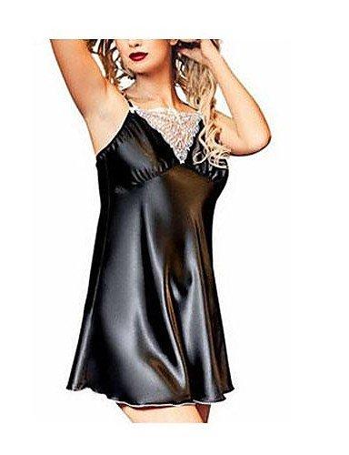 XXTT plus size sexy Dessous Mode Nachtwäsche Kleid der Frauen , black-xl , black-xl