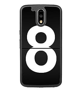 No 8 2D Hard Polycarbonate Designer Back Case Cover for Motorola Moto G4