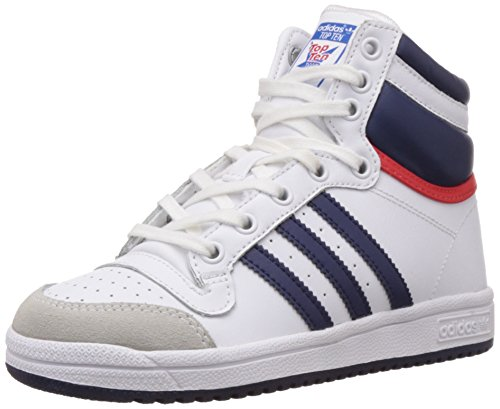 adidas Originals Boys Top Ten Hi C White, Dark Blue and ...