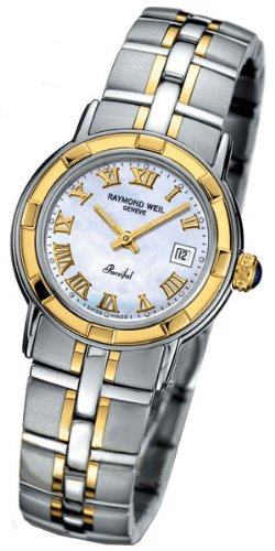 Raymond Weil Women's 9440-STG-00908 Parsifal 18k Gold-Plated and Stainless Steel Watch