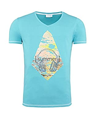 SUMMERFRESH Camiseta Manga Corta Floris (Azul Claro)