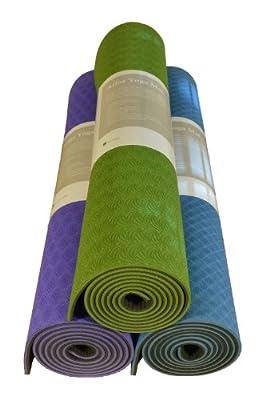 Atlas Yoga Mats - Premium | Comfortable, Dense TPE Material, Extra Thick, High Quality, Eco Friendly, (6 mm)