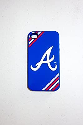New Forever Collectibles MLB Atlanta Braves Iphone 4 Case Baseball Blue