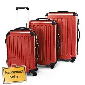 3er Hartschalen Kofferset ROT Hochglanz · Handgepäck