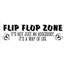 Flip Flop Zone....Beach Wall Quote Words Sayings Removable Lettering 10