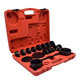 DakRide 23PCS Front Wheel Drive Bearing Adapters Puller Press Replacement Installer Removal Tool Kit and Installation Tool Set with Carring Case (Tamaño: Wheel Bearing Adapters)