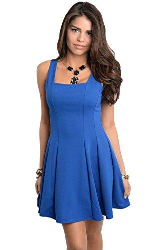 2Luv Women'S Princess A-Line Dress Royal Blue M (D8683)