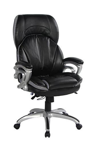 VIVA OFFICE High Back Double Padded Bonded Leather Office Chair with Soft Spring Pack Padding (Office Chair Padding compare prices)