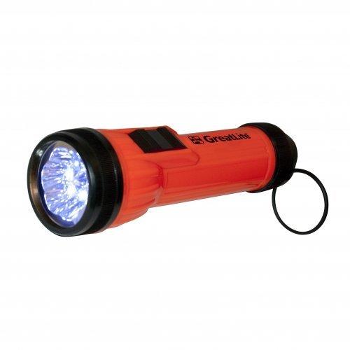 Greatlite 32211 2D 6 Led High Visibility Flashlight, Orange And Black
