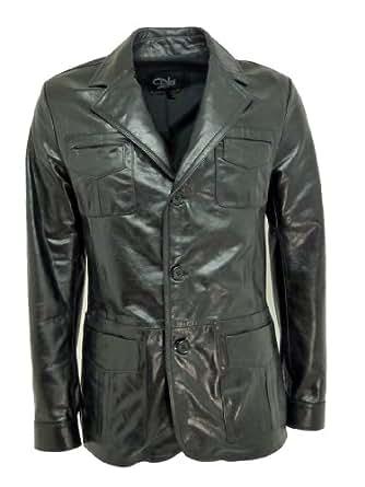 Dks - Veste Cuir Homme Made in France bru005 noir Couleur - noir, Taille Homme - S