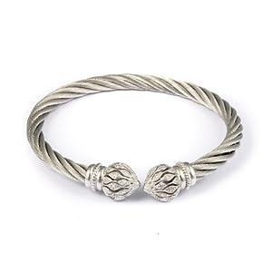Burgmeister Jewelry Damen-Armspange 925 Sterling Silber Zirkonia JBM3030-521