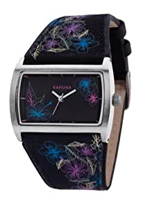 Kahuna Women's Quartz Watch with Black Dial Analogue Display and Black Plastic or PU Strap KLS-0277L