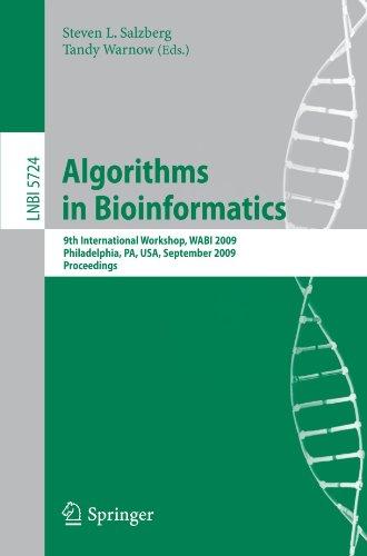 Algorithms in Bioinformatics: 9th International Workshop, WABI 2009, Philadelphia, USA, September 12-13, 2009. Proceedin