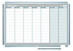 MasterVision New Generation Gold Ultra Dry Erase Weekly Planner, 36x24 Inch, Aluminum Frame (GA0396830)
