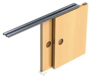 Sliding Door Gear Track System DIY Kit Set Hush Wardrobe Cupboard 2