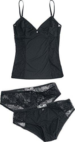 Black Premium by EMP Underwear Set Intimo donna nero XL