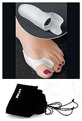 Kkika 1 Pair/2PCS Soft Silicone Gel Bunion Protector Toe Straightener Separator Pad Hallux Valgus Toe Corrector Feet Care
