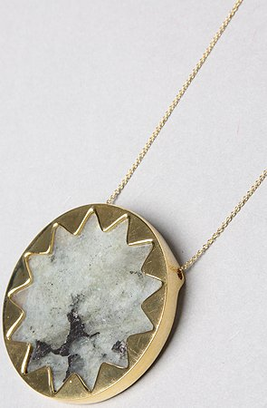 House of Harlow 1960 The Sunburst Pendant Necklace,Jewelry for Women,One Size,Gold