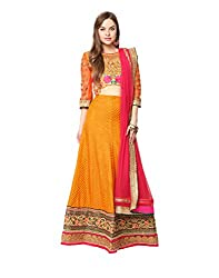 Yepme Alied Lehenga Choli Set - Orange -- YPMLEHG0002_Free Size