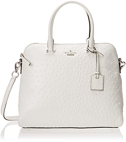 kate spade new york Cedar Street Ostrich Margot Top Handle Bag, Bright White, One Size
