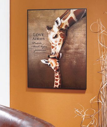 Giraffee Inspiring Mother and Child Animal Art