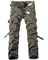 Aubig 100% Cotton Outdoor Desert Camouflage Pants CARGO Military PANTS