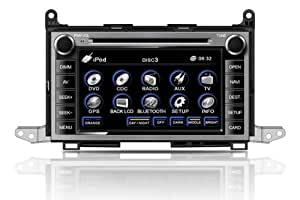 """OEM Replacement DVD 7"""" Touchscreen GPS Navigation Unit For Toyota Venza 2009/2010/2011/2012 With Radio (AM/FM),iPod Interface,Bluetooth Hands Free,USB, AUX Input,US & Canada Map,Plug & Play Installation"""