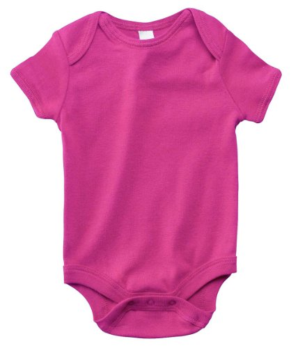 Bella Infant'S Baby Cotton Rib One-Piece Creeper, Berry, 6, 12 Months front-859959