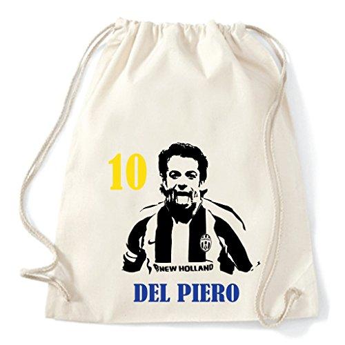 Art T-shirt, Zaino Sacca Alessandro Del Piero Juventus, Natural