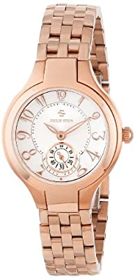 Philip Stein Women's 44RGP-FMOP-SS5RGP Round Rose Gold Plated Mother-Of-Pearl Bracelet Watch by Philip Stein