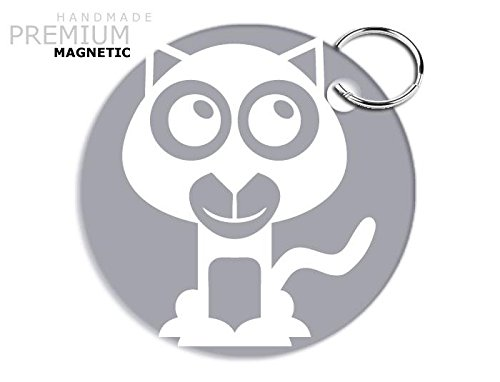 Adorabile magnete JCM Wildcat portachiavi, Argento