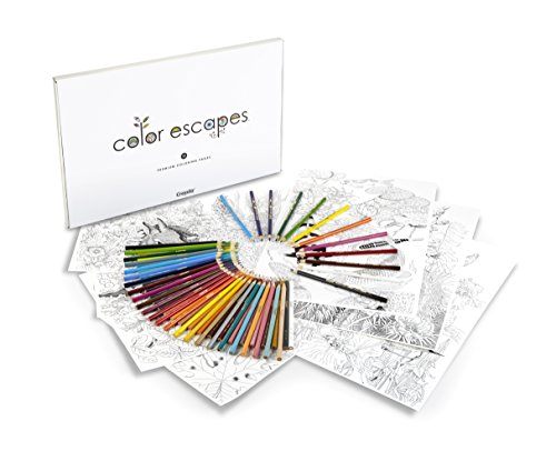 Crayola Color Escapes Adult Coloring Books Coloring Pages & Pencil Kit - Garden